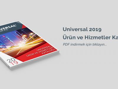 Universal Yazılım 2019 Ürün ve Hizmetler Kataloğu Çıktı!
